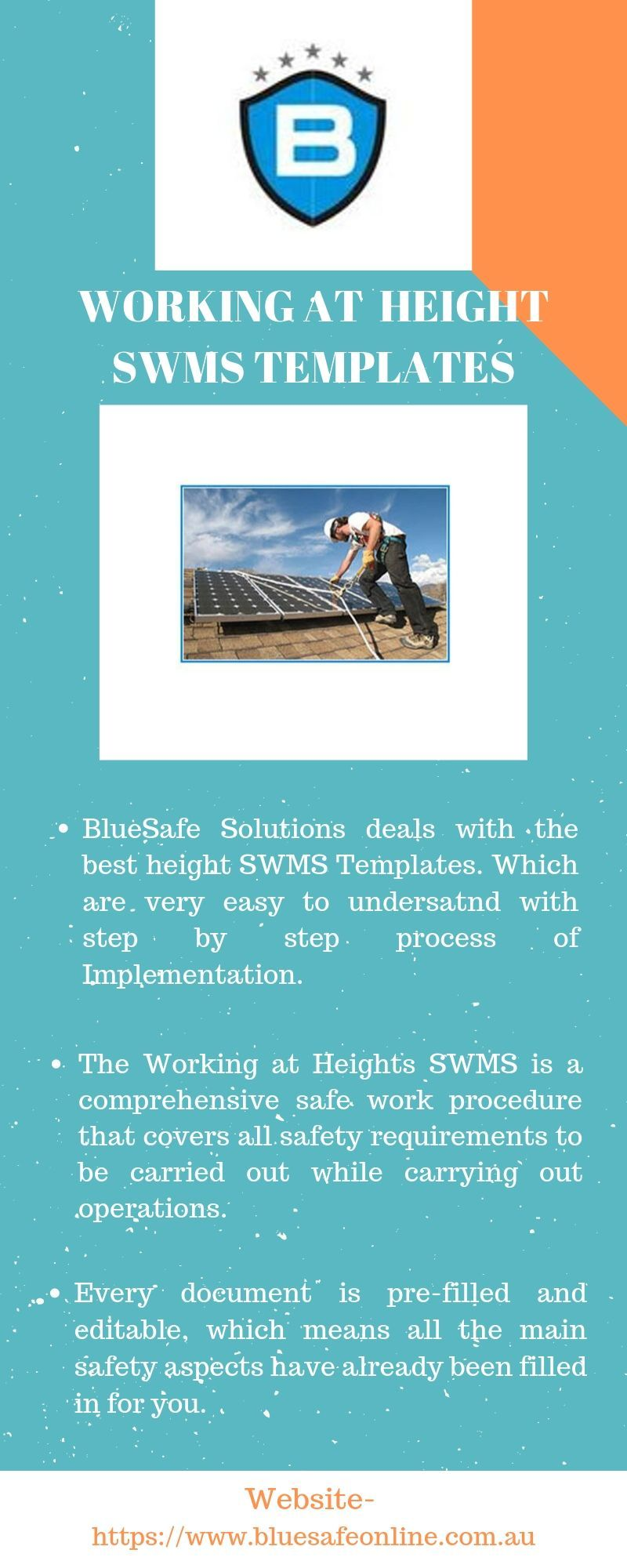 Working at Height SWMS Templates BlueSafe Solutions