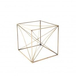 EMILE: SCULPTURE CUBE EN LAITON/ BRASS CUBE SCULPTURE