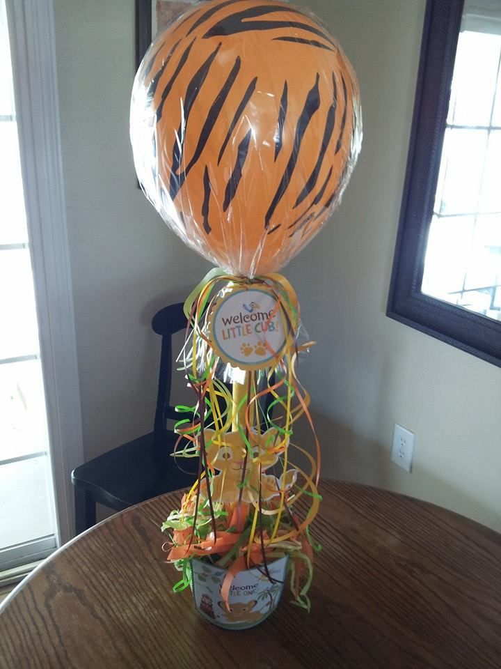Lion King baby shower centerpiece | Party on a Budget ...