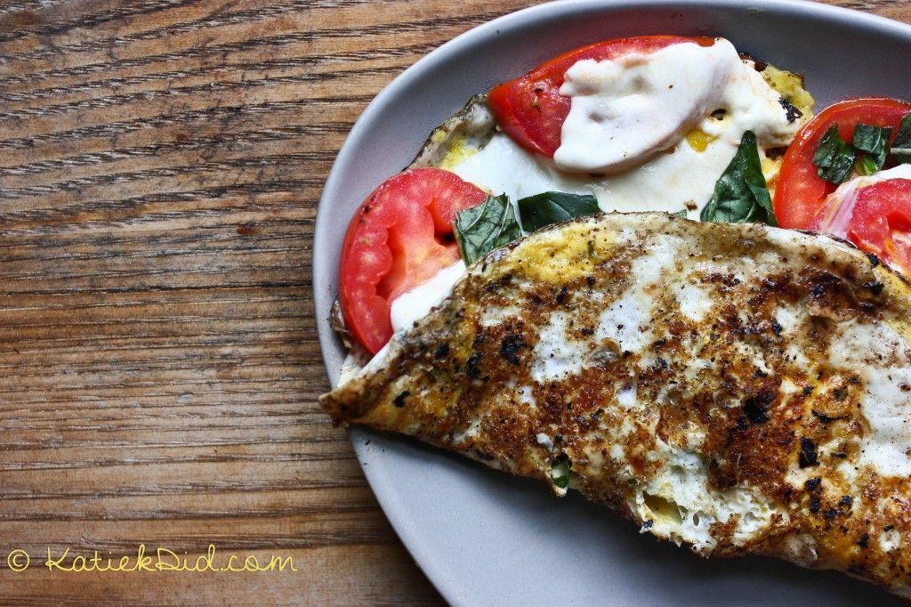 Caprese Omelet #recipe