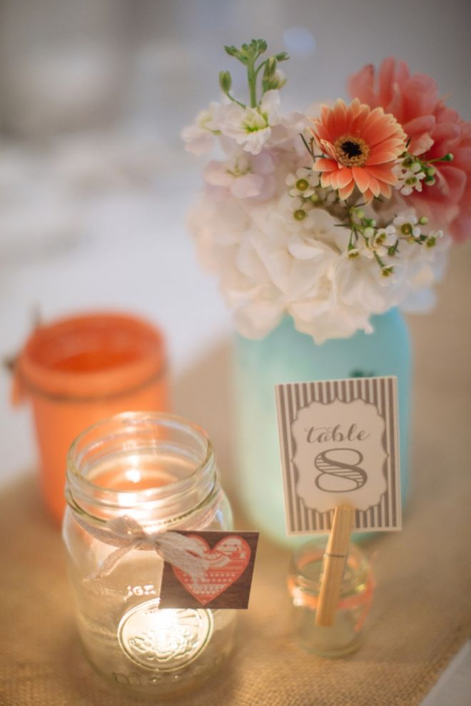 Mason Jar Table Decor Painted Mason Jar Wedding Table Decor Amazing Wedding