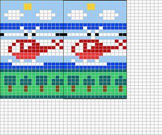 Ravelry: Little red helicopter chart pattern by Sandra Jäger