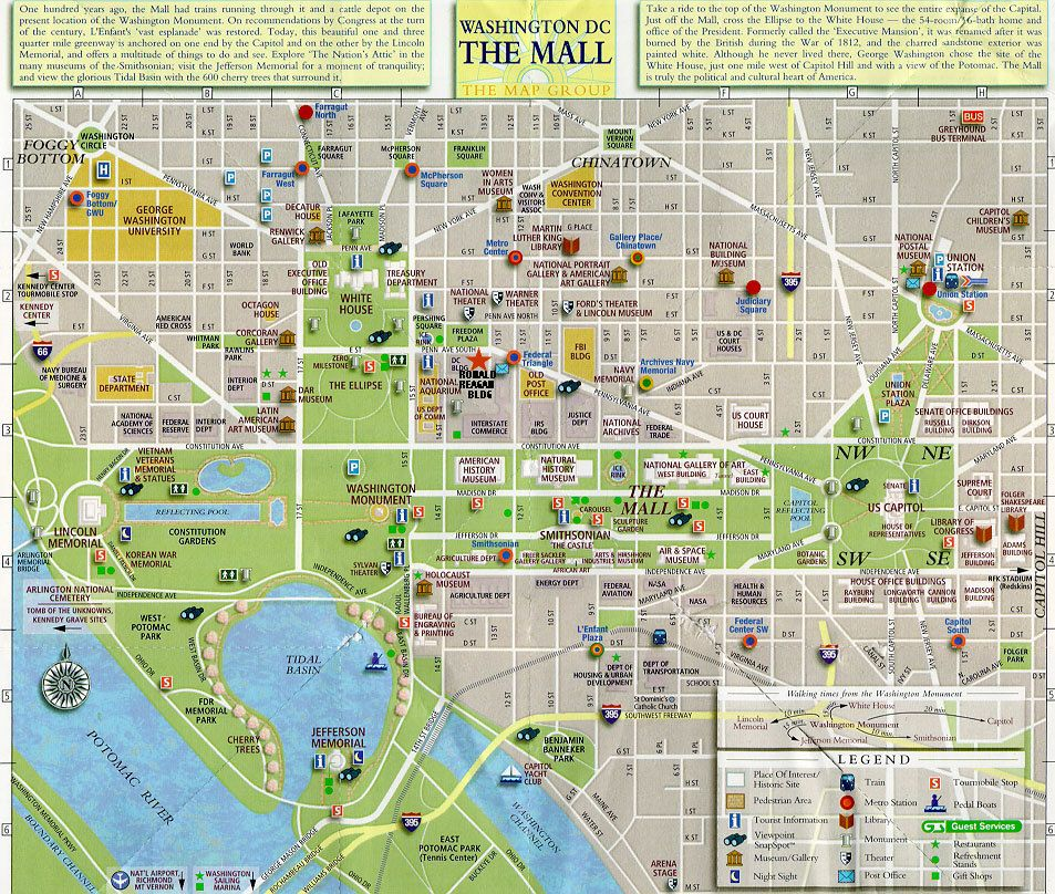 image relating to Washington Dc Printable Map titled Aspects towards do in just Washington DC, District of Columbia: Perspective