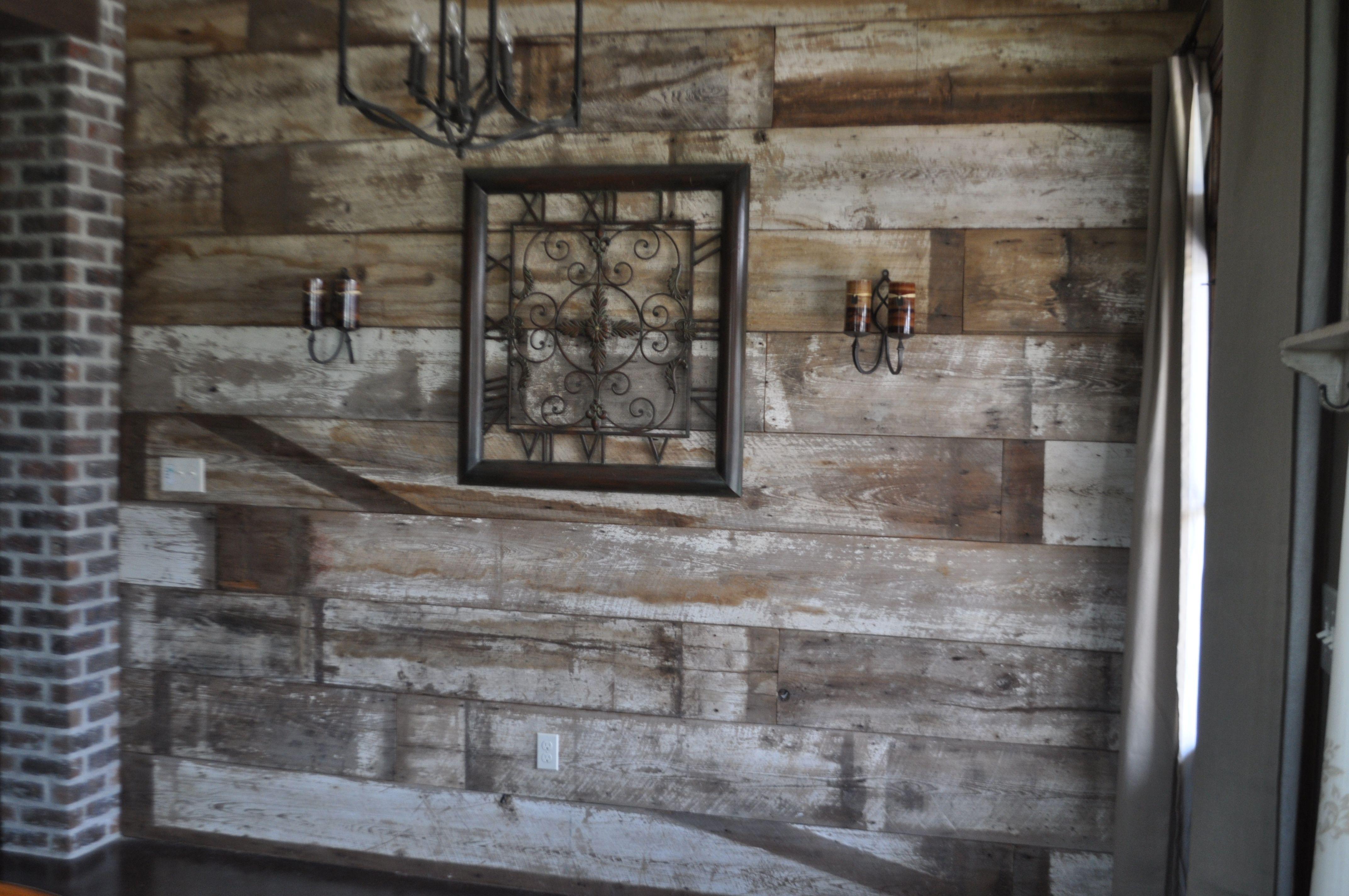 Reclaimed wood Wall....my entrance way