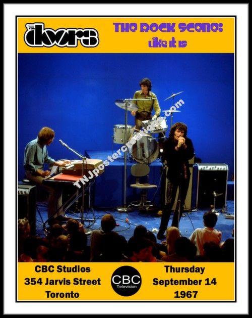 The Doors Poster-TV Appearance in Toronto-1967-TV Show The Rock Scene  sc 1 st  Pinterest & The Doors Poster-TV Appearance in Toronto-1967-TV Show The Rock ...