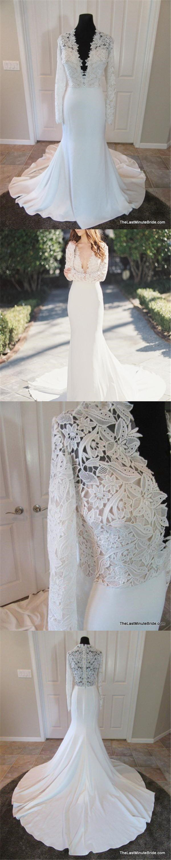 Lace v neck maxi dress april 2019  Sexy Deep VNeck Lace Top Mermaid Wedding Party Dresses long
