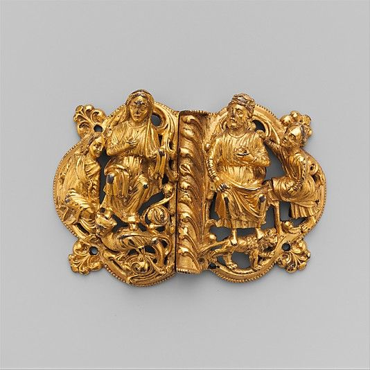 Clasp Date: ca. 1200 Geography: Made in, Meuse Valley, South Netherlands Culture: South Netherlandish Medium: Copper alloy, gilding