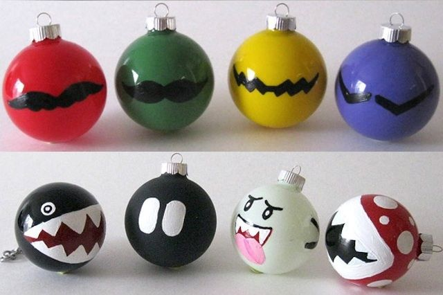 Home Made Mario Gaming Christmas Decorations Via Reddit User Spectre Chavez Geek Christmas Nerdy Christmas Diy Christmas Ornaments
