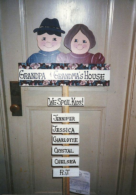 Grandma and Grandpa  Handpainted Yard Stake by DazzleYourSeasons, $55.00