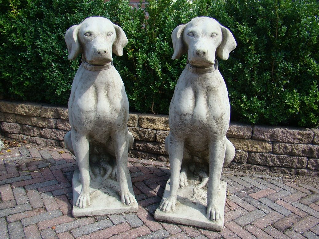 Set English Dogsu0027 Garden Statueu0027s