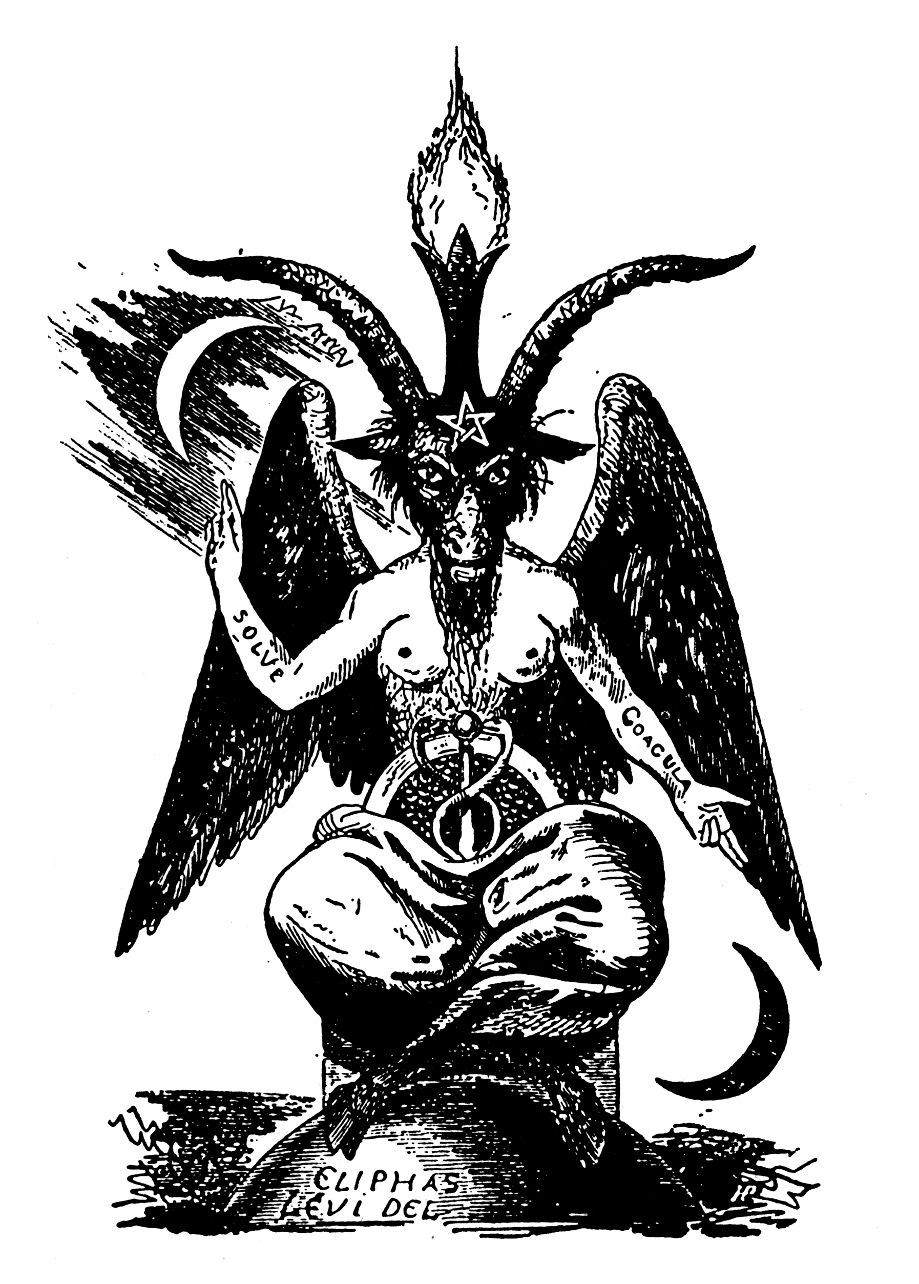 Baphomet' - The infamous 19th century image of a Sabbatic