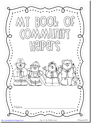 FREE! Cute printable booklet for community helpers...fill