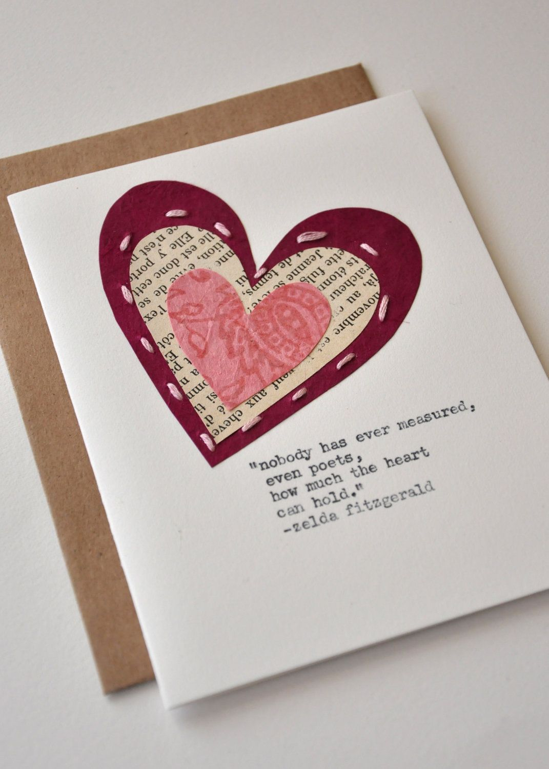 Handmade Valentine Anniversary Card Handmade Greeting Card – Cool Valentines Cards to Make