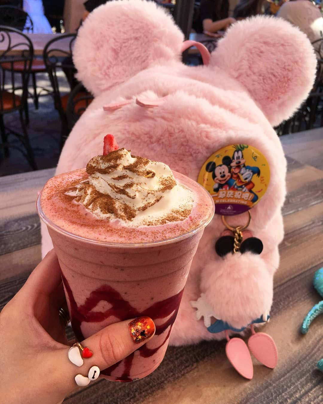 Jenny Chris On Instagram Frozen Strawberry Horchata At Disneyland Rancho Del Zocalo This Was Very Good And Very Strawber Horchata Disneyland Disney Food