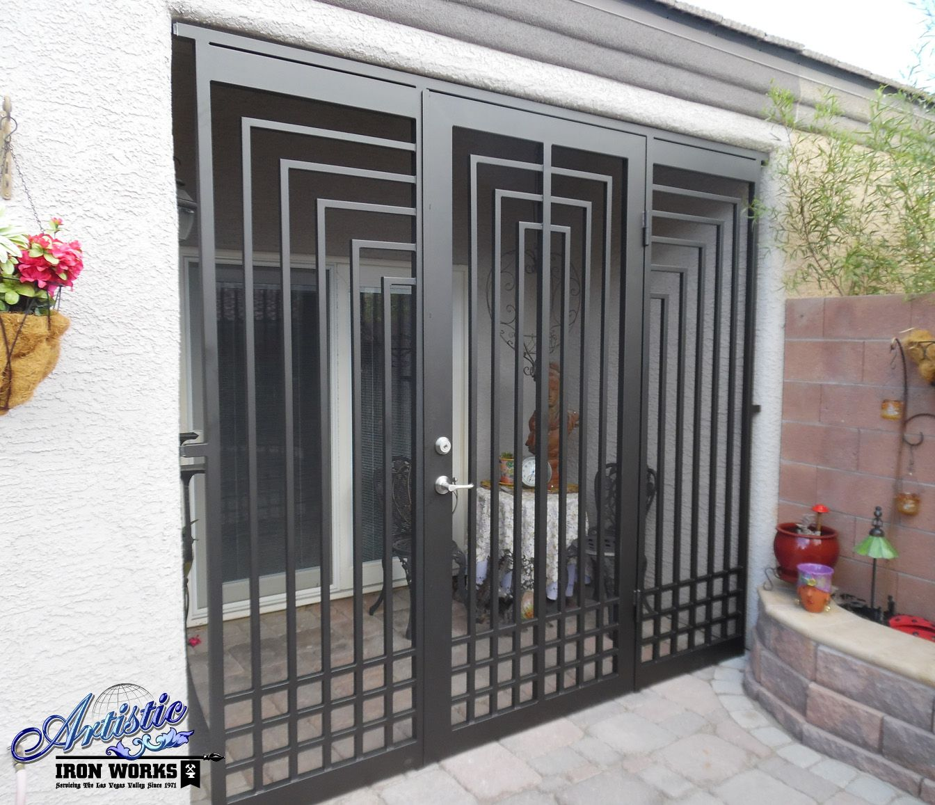 Gate Grill Iron Grill: Escher - Wrought Iron Entryway - Model: EW0422B