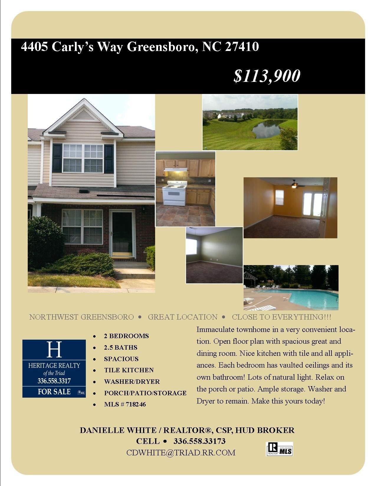 Greensboro nc for sale open floor plan townhouse cool