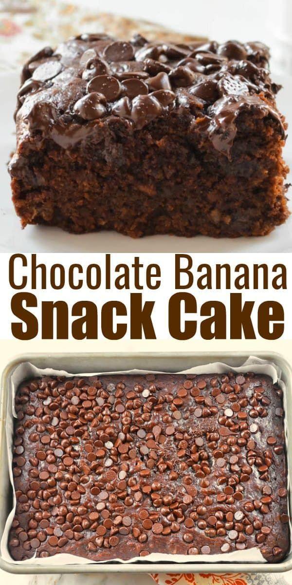 Eggless Chocolate Banana Snack Cake