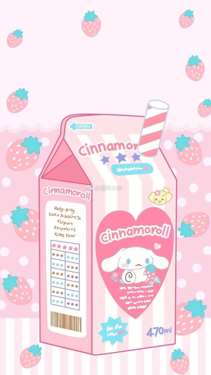 Cinnamoroll Milk Carton Sanrio Wallpaper Kawaii