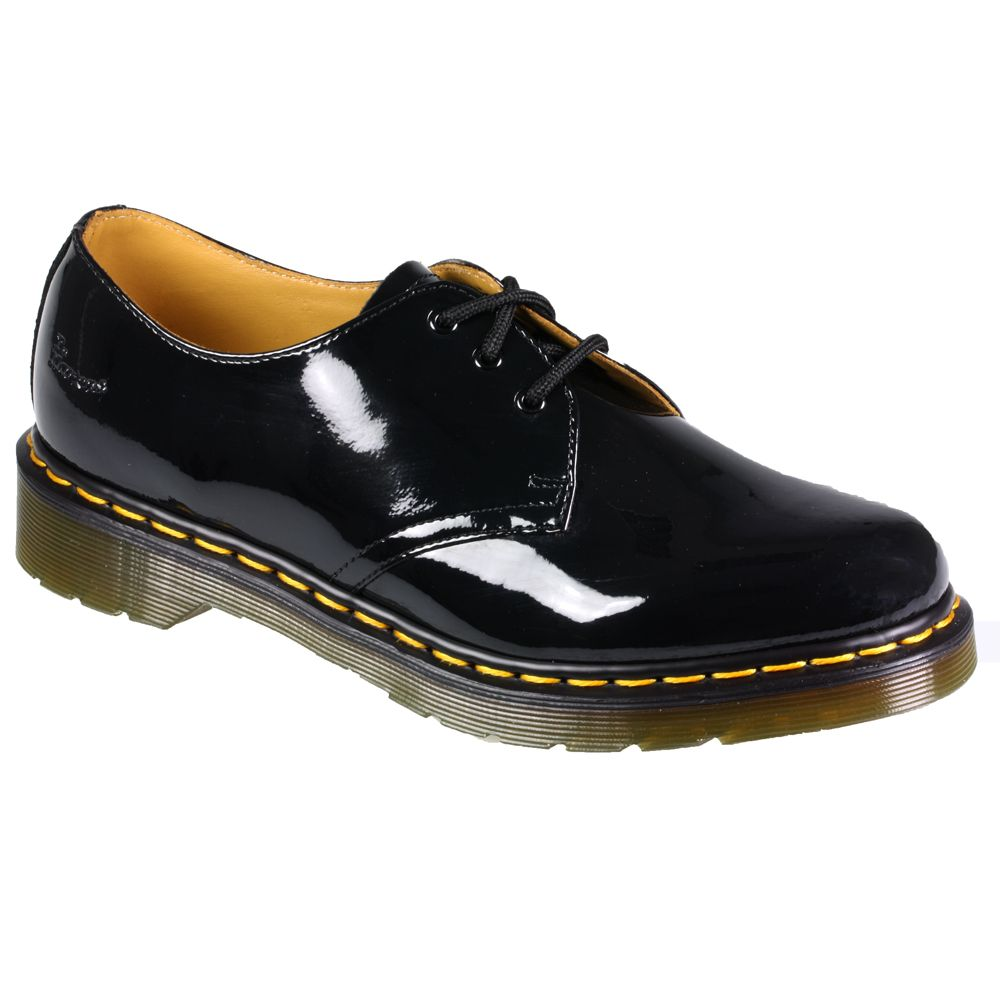 Womens dr martens 1461 patent leather lace up black red pink