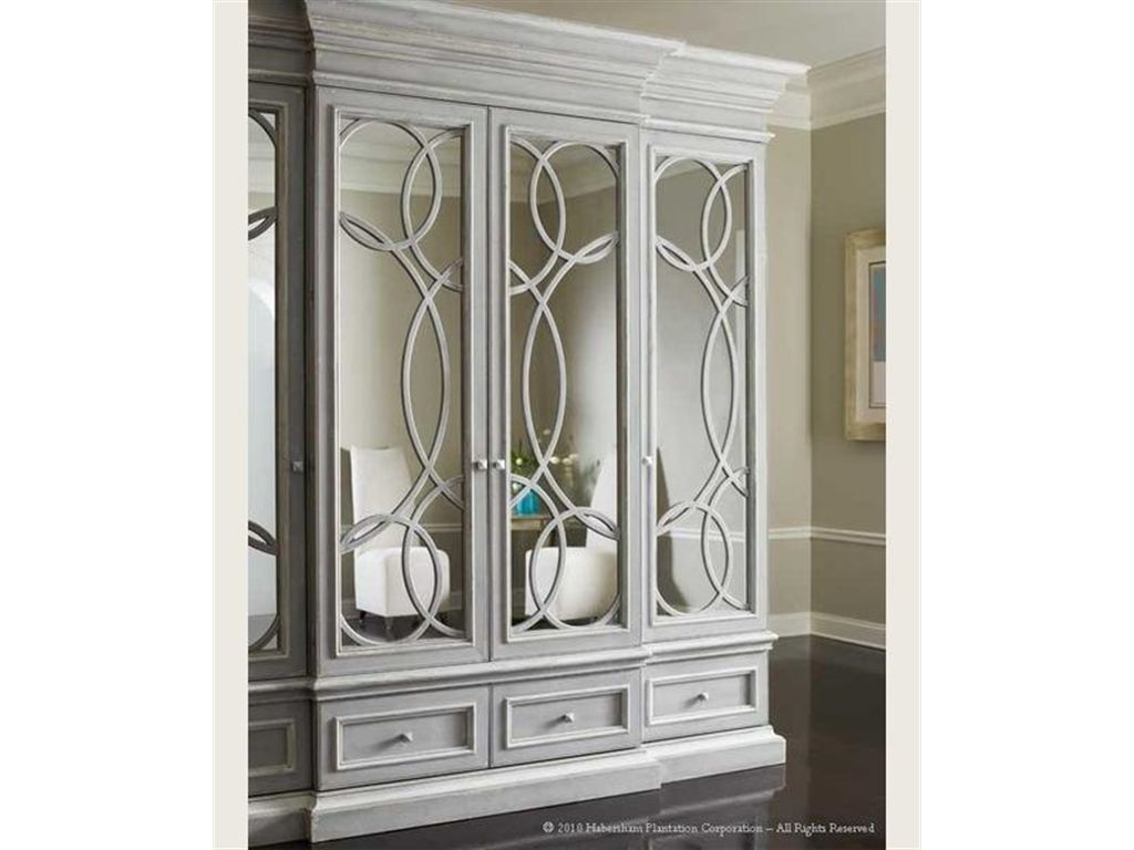 Habersham Plantation Corporation Home Entertainment East Hampton  Display/Media Cabinet With Mirrored Doors   Abide Furniture   Sprin.