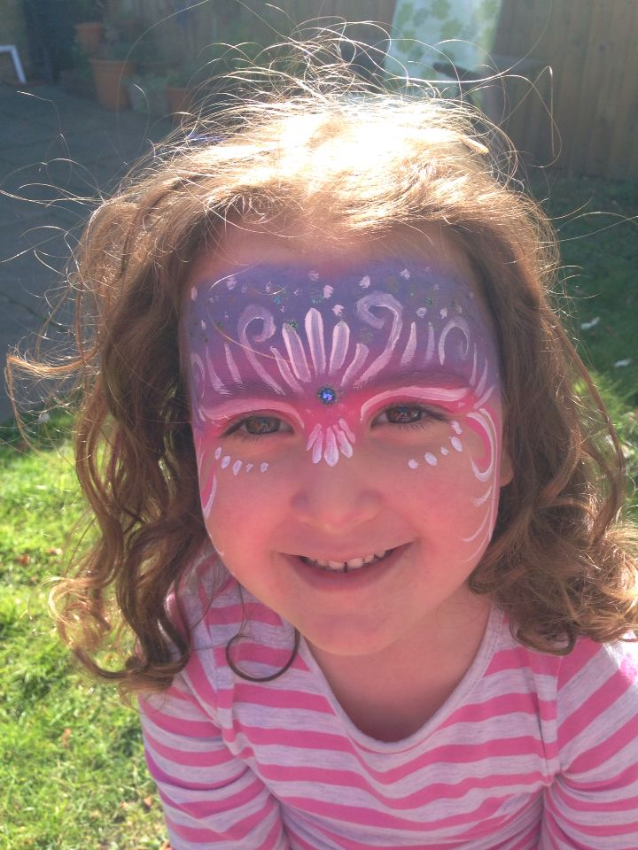 My own attempt at Fairy face paint on Holly