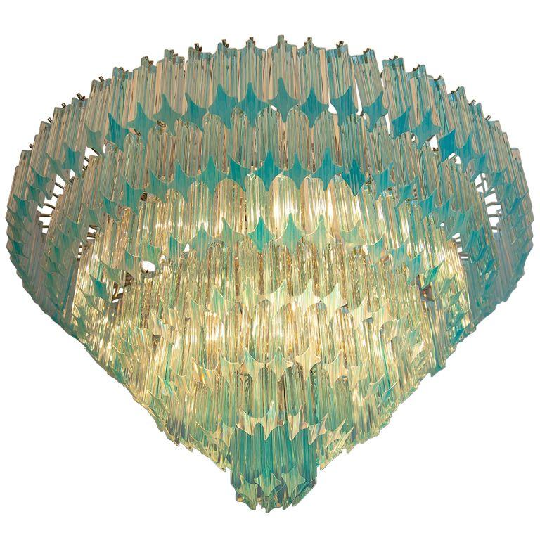 Vintage Murano Chandelier, Aquamarine C.1970   Aquamarines ...