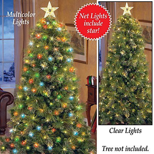 lighted christmas tree net lights with star multi color lig learn more by visiting the image link