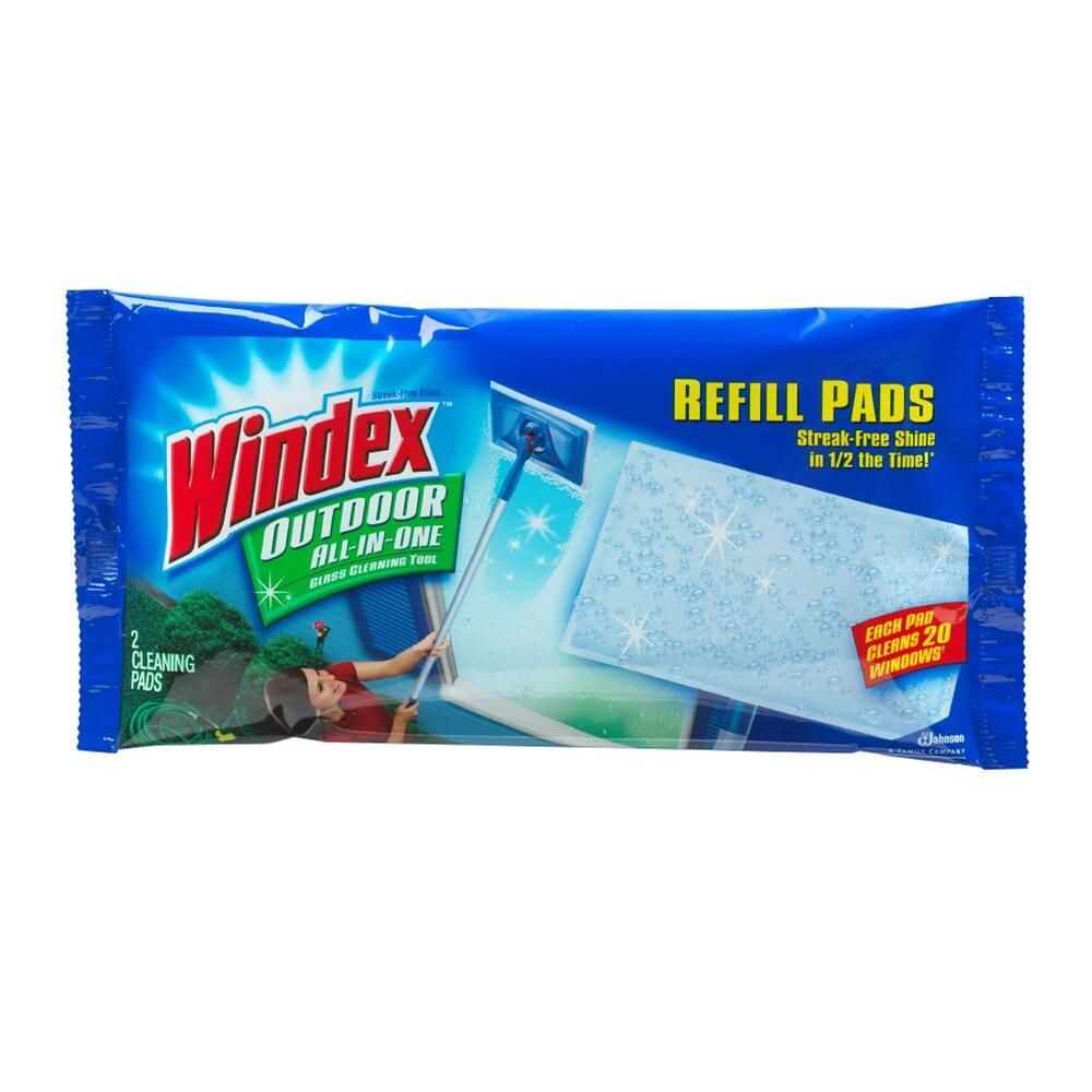 Windex Outdoor All In One Glass Cleaning Tool Refill Pads 9 Pack