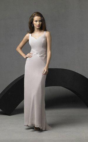 großes Bild 1 Perlenbesetztes natürliche Taile bodenlanges legeres glamouröses Abendkleid