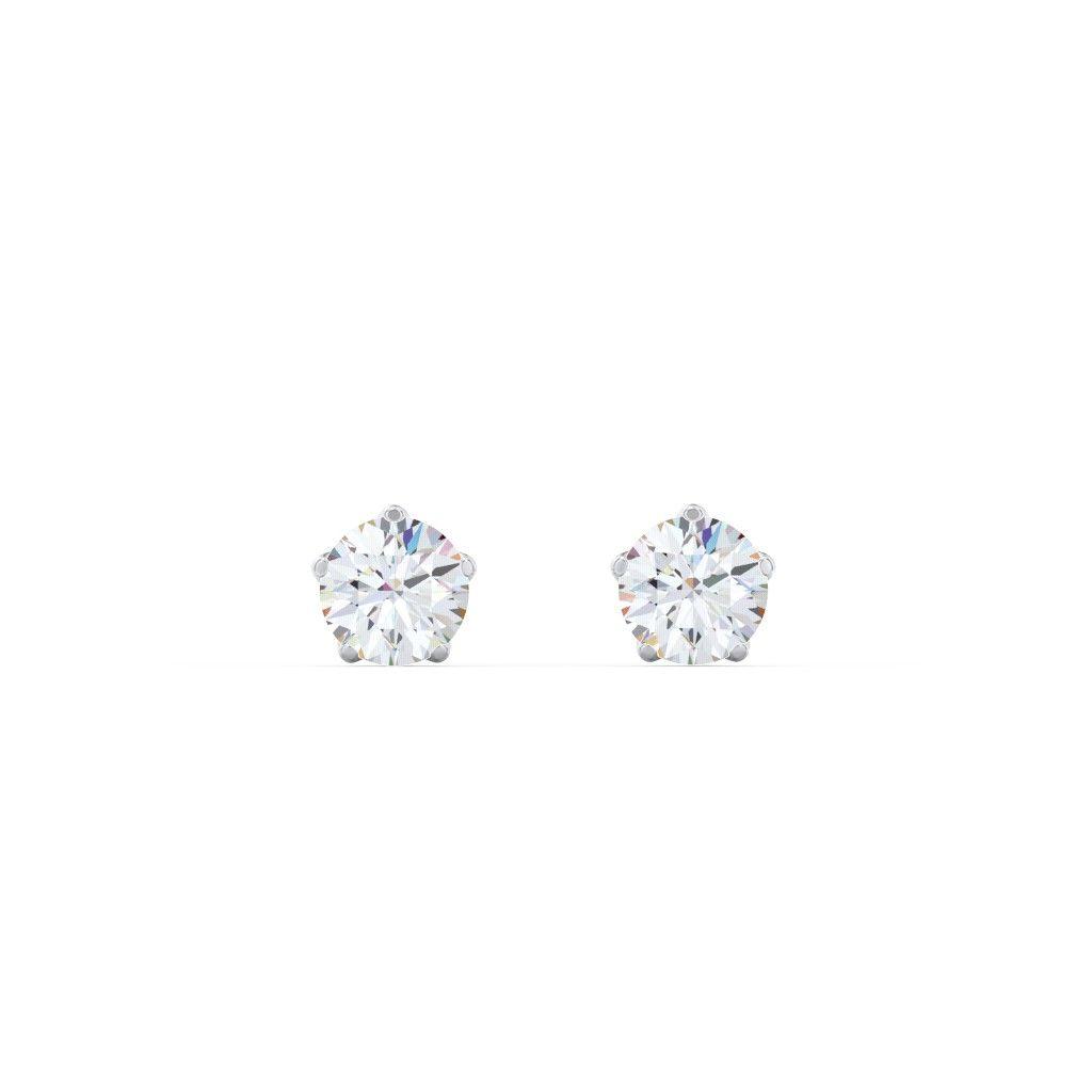 5 Prong Diamond Stud Earrings 1 4 Ct Tw 0 25 Ct Tw Diamond Studs Stud Earrings Diamond