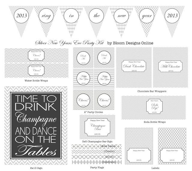 New Years Party Kit $500 New Years Party New years party, Party