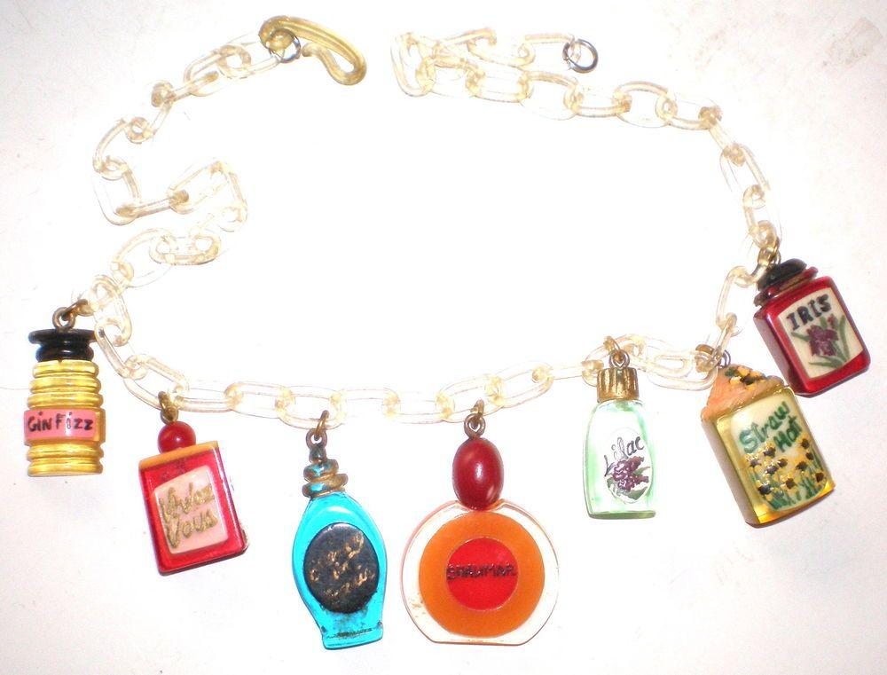 Bakelite/Celluloid Perfume Necklace 1930s