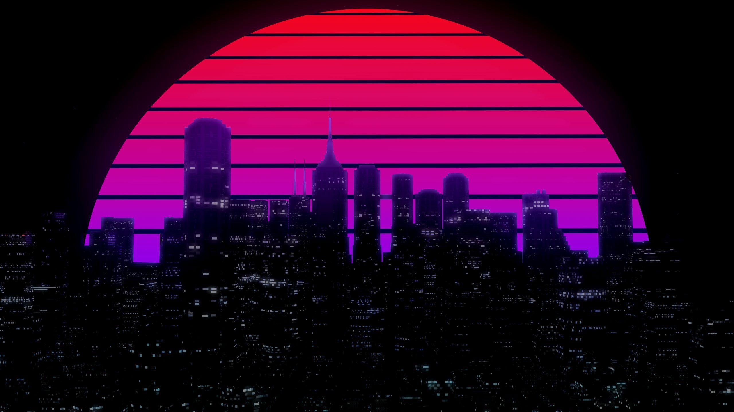 The Sun Night Music The City Star Building Background 80s Neon 80 S Synth Retrow In 2020 Aesthetic Desktop Wallpaper Cityscape Wallpaper Aesthetic Wallpapers