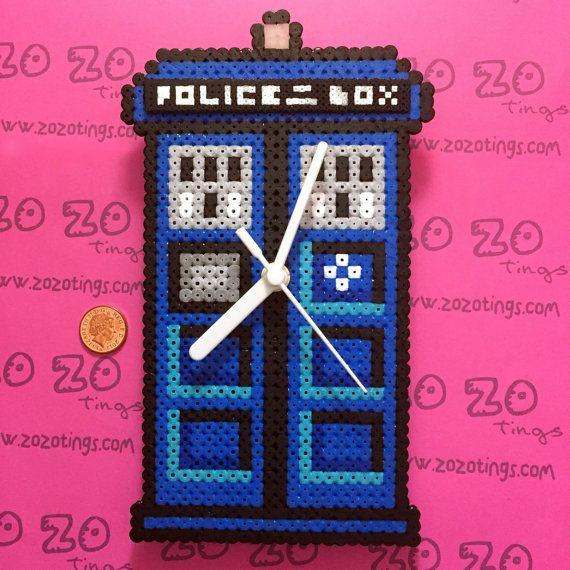 Tardis Pixel Clock by ZoZoTings on Etsy