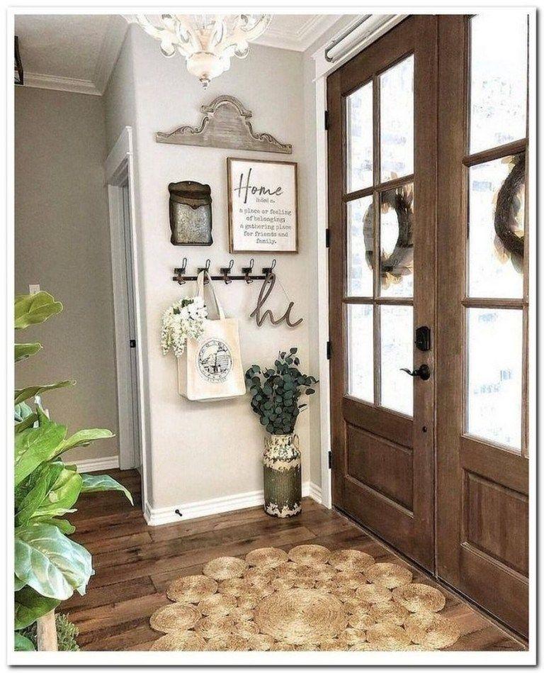70 Small Foyer Decor Ideas For Entryway 49 In 2020 Entryway Decor Small Foyer Ideas Entryway Entryway Wall Decor