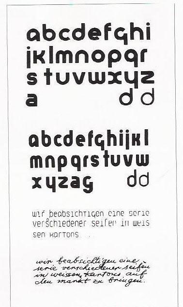 Bauhaus Herbert Bayer Universal Alphabet  Bayer Designed A