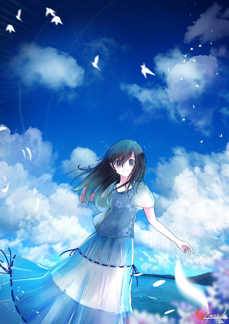 [Artwork] Bầu trời cô đơn Bầu trời, Anime, Pokémon