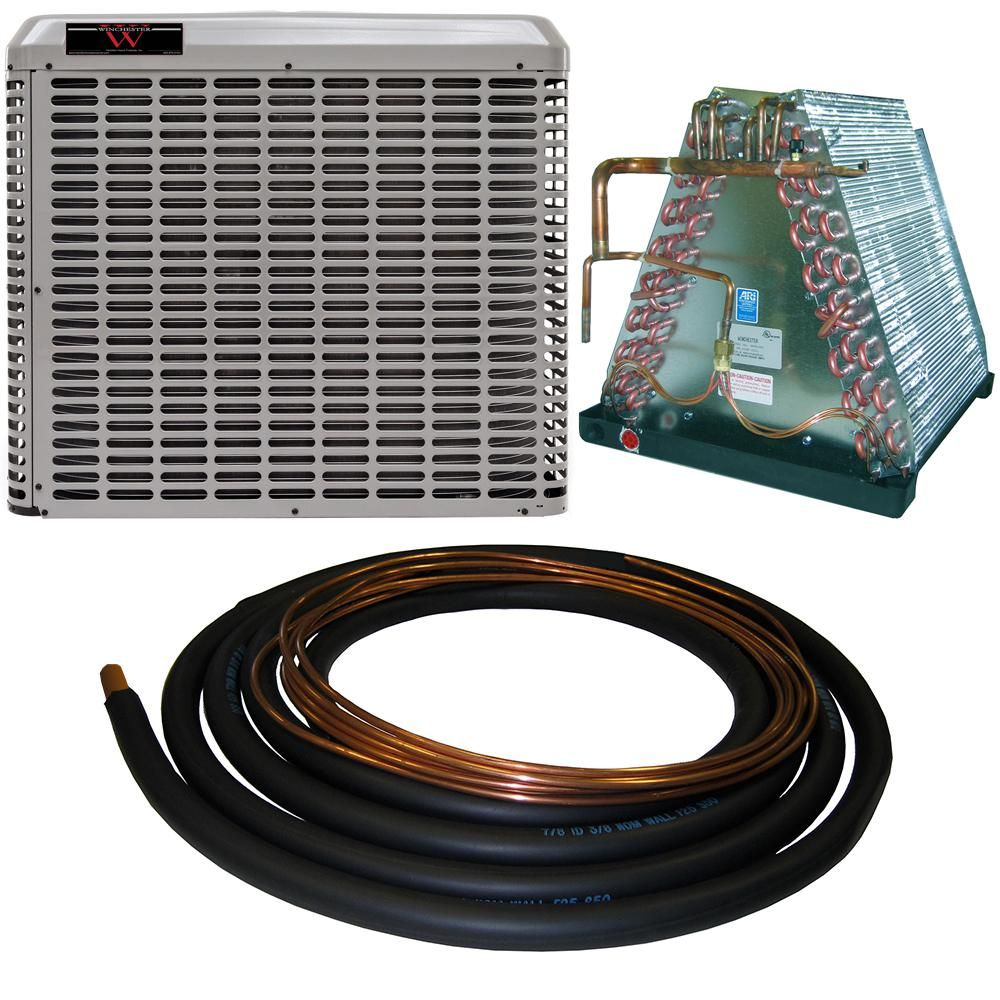 Winchester 2 5 Ton 14 Seer Mobile Home Split System Central Air Conditioning System With 30 Ft Line Set 4wmh30s 30 The Home Depot Central Air Conditioning Central Air Conditioning System Air Conditioning System