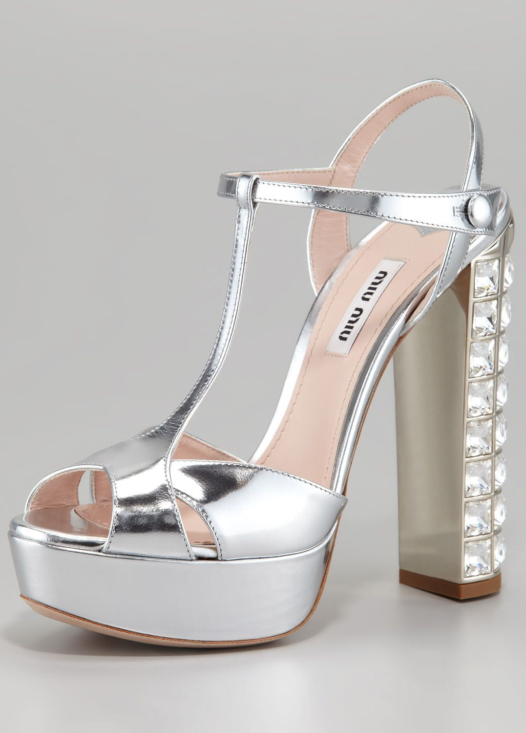 Miu Miujewelled heel sandals