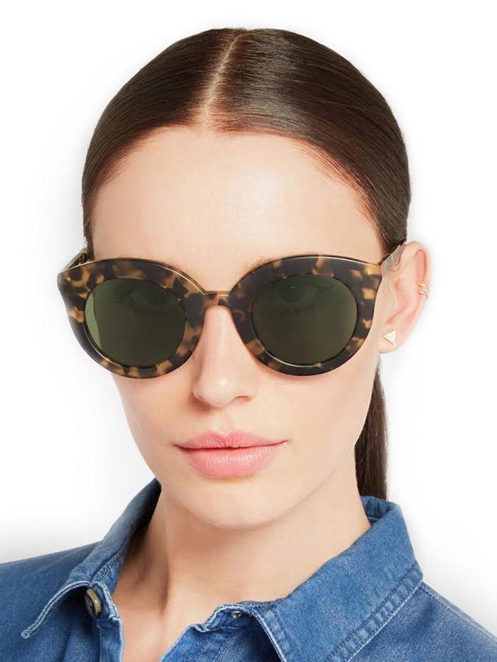 Finds + Kiabosh Song of the Siren Cat Eye Acetate Sunglasses