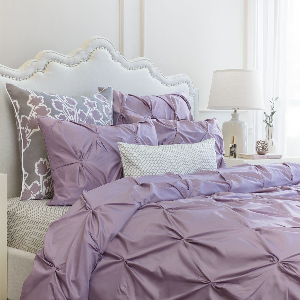 Bedroom Inspiration And Bedding Decor The Valencia Lilac Pintuck