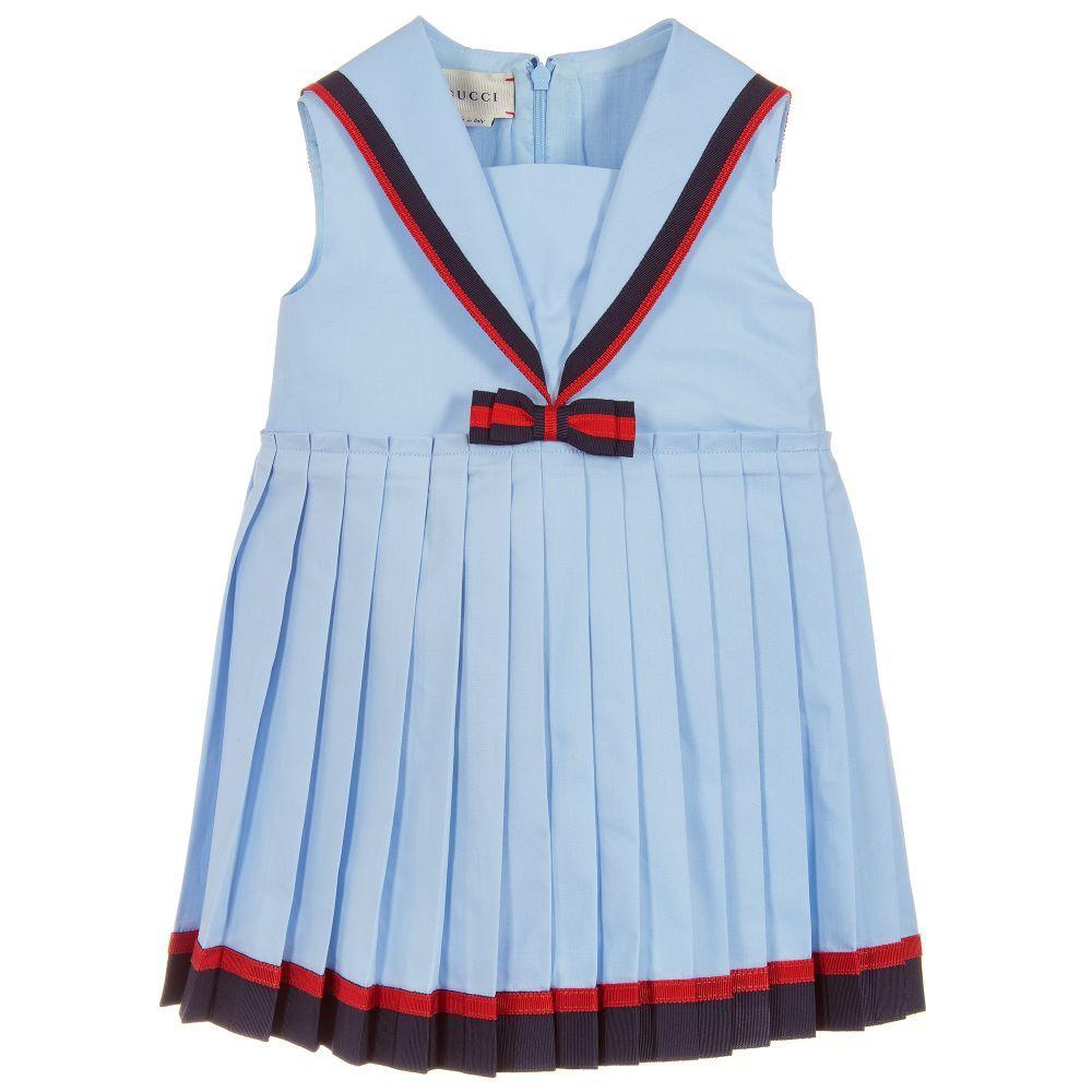 dc59579f3 Blue Cotton Poplin Dress