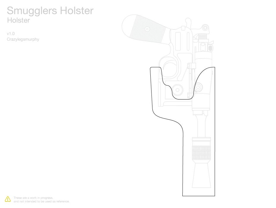 SE 14 Holster Template Star Wars Inspired