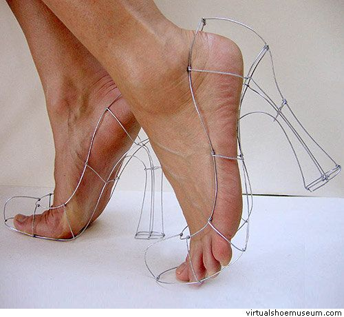 """Wire Shoes"" by Polly Verity omg i totally ""heart"" these!!!!!!!!!!!!!!!!!!"