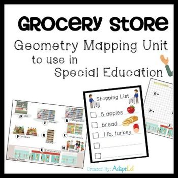 Grocery Store Geometry Mapping Unit For Special Education Math Instruction High School Huckleberry Finn Paraphrase