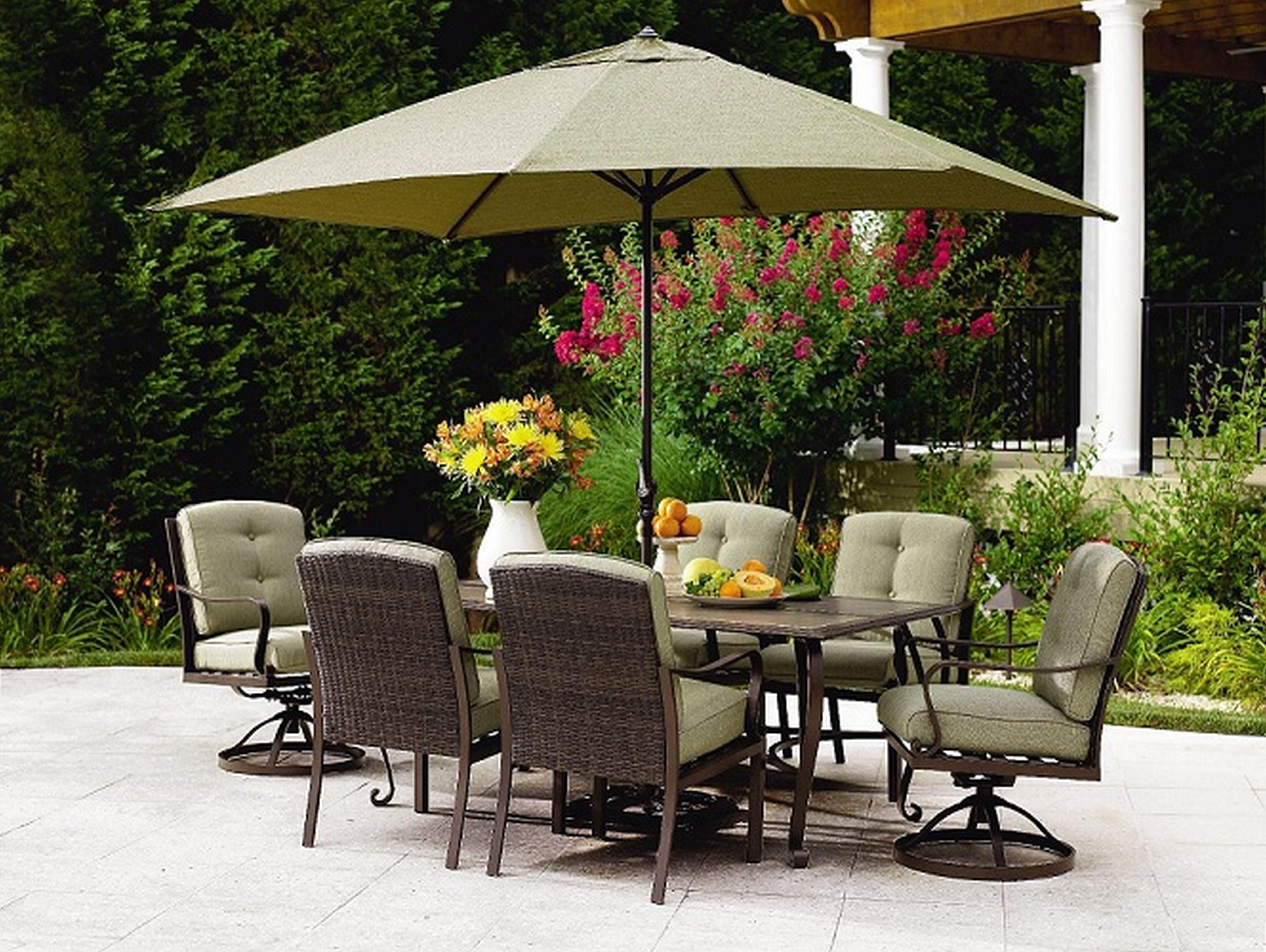 Patio Table Set With Umbrella Furniture Ideas