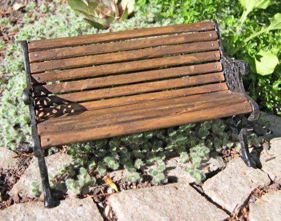 Admirable Fairy Garden Park Bench Mini Fairy Gnome Gardens Garden Camellatalisay Diy Chair Ideas Camellatalisaycom