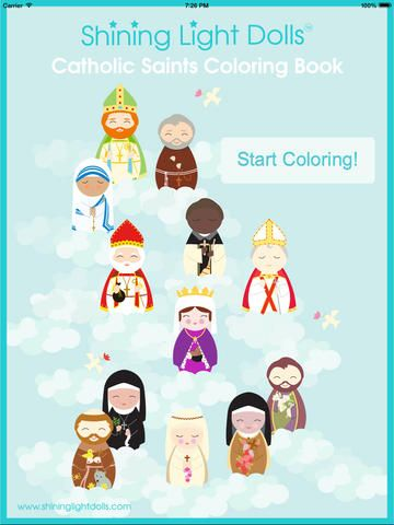 Attractive Saints Coloring Book By Shining Light Dolls Ideas