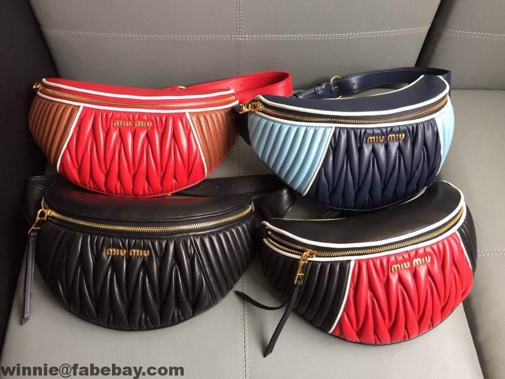 8235a539ba60 Miu Miu Matelassé Leather Miu Rider Belt Bag 5BL008 2018 | MIUMIU in ...