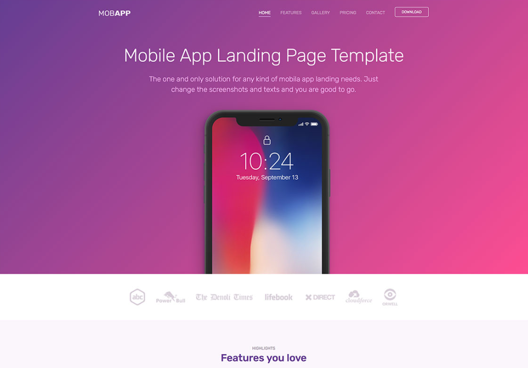 Free Modern Mobile App Page Html Template Mobile Apps Are All The Rage Right Now And They Have Become Second Nature To Mobile App Modern Mobile Html Templates